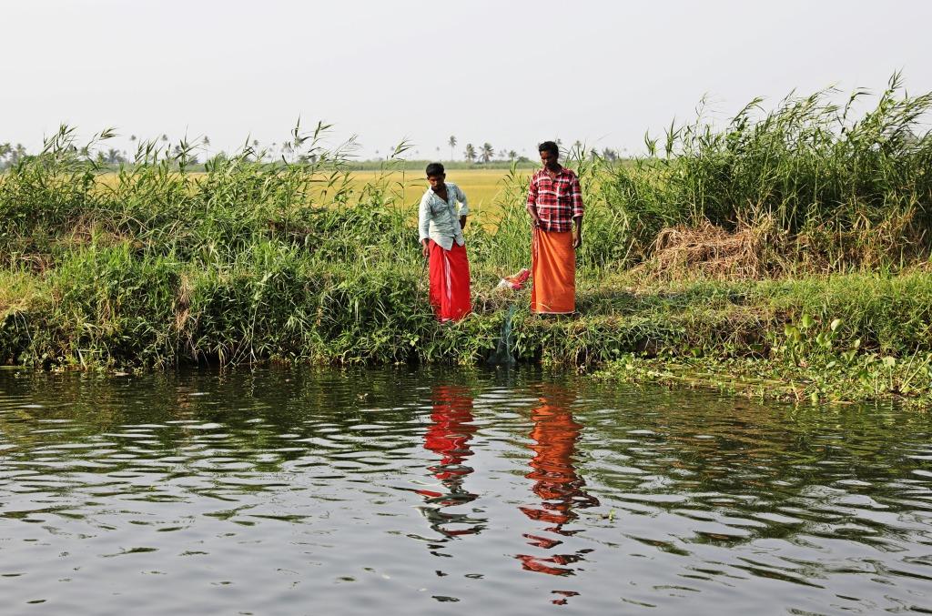 Keralites fishing, Kerala backwaters