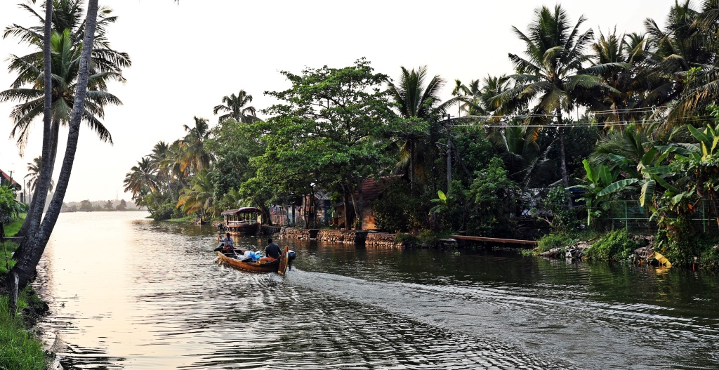 Village on the Kerala backwaters