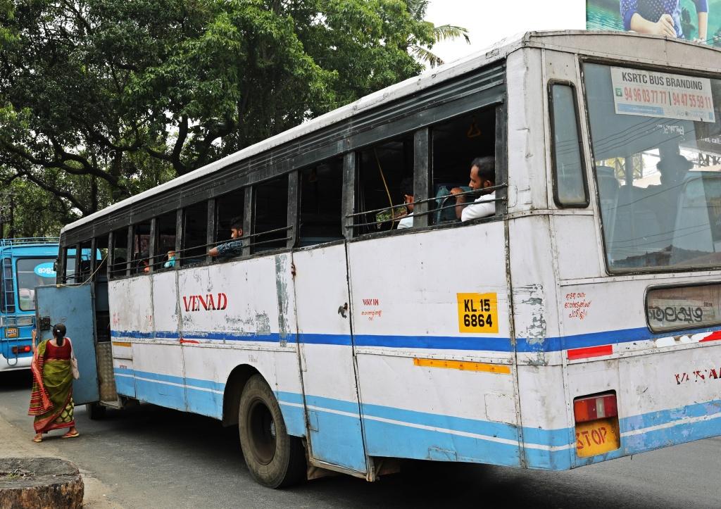 Public bus, Alleppey, Kerala