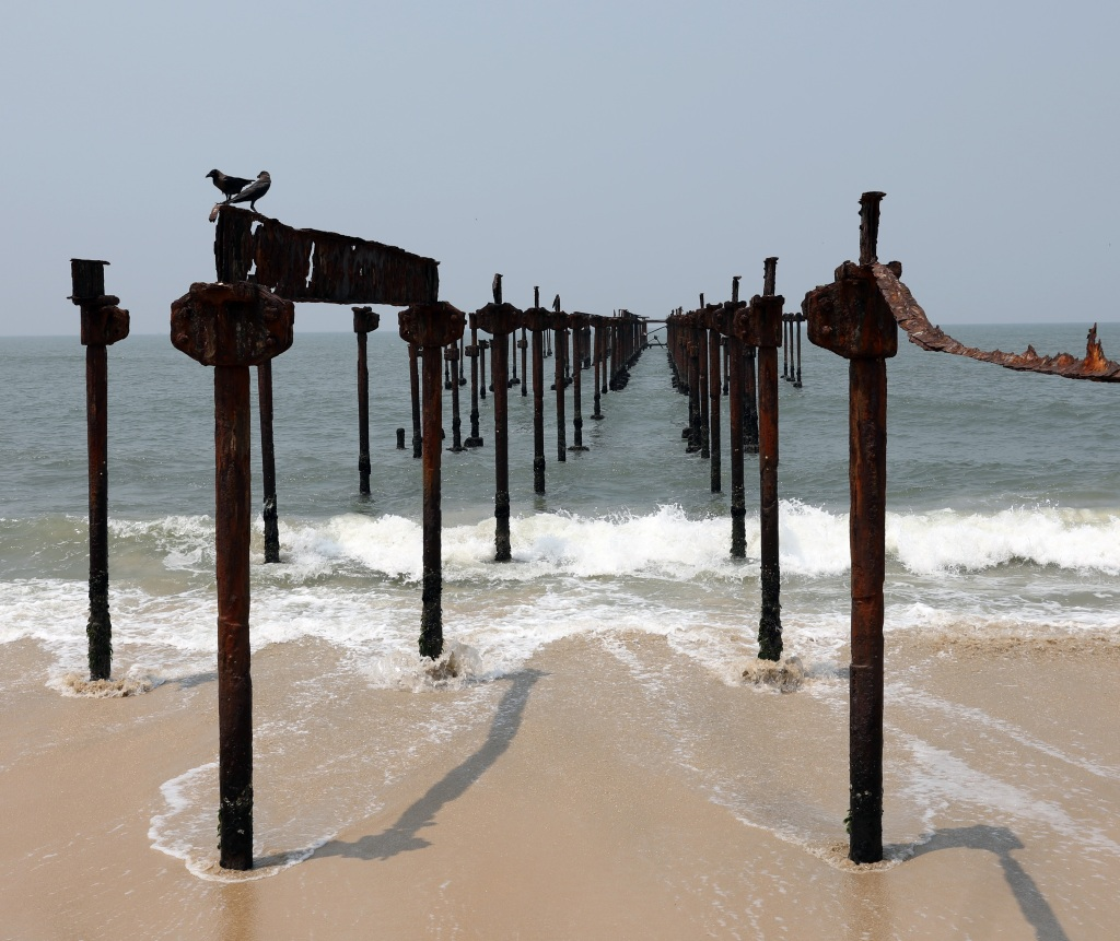 Old Pier, Alleppey beach