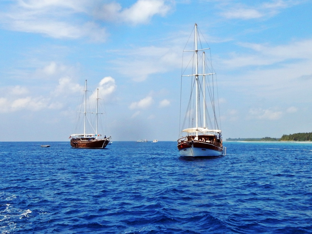 Sailboats, Maldives