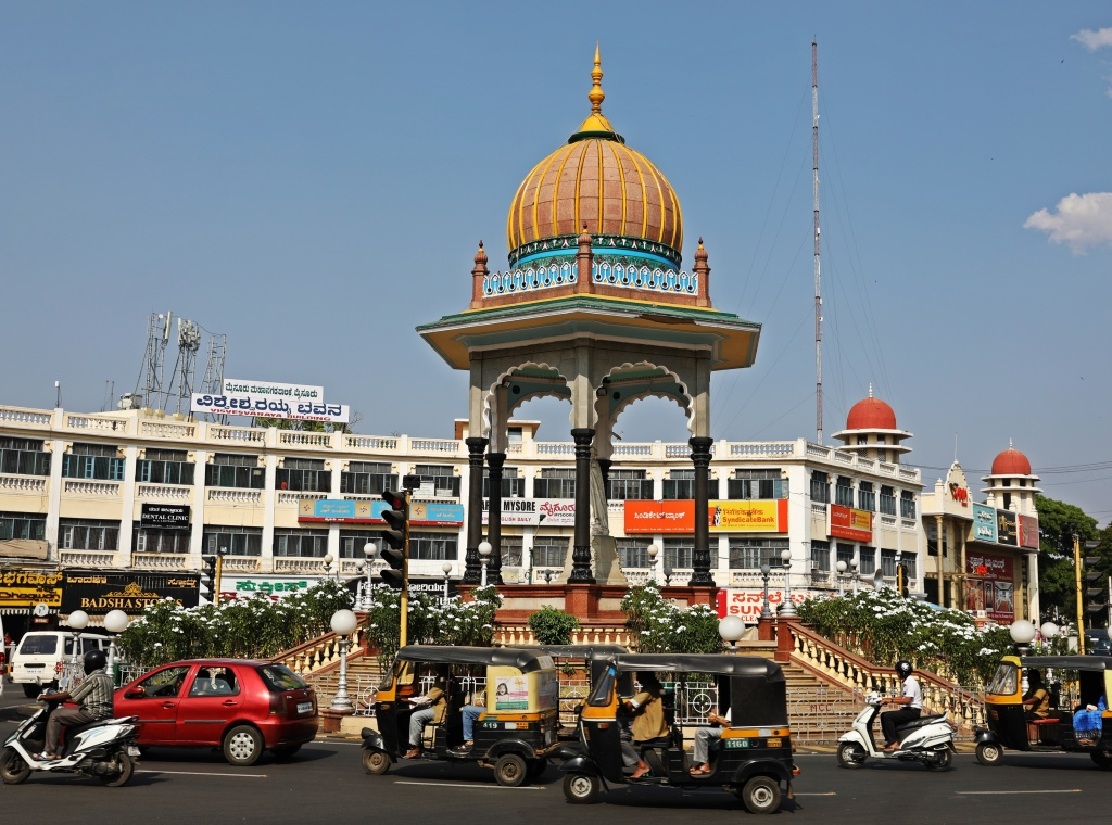 Traffic circle, Mysore