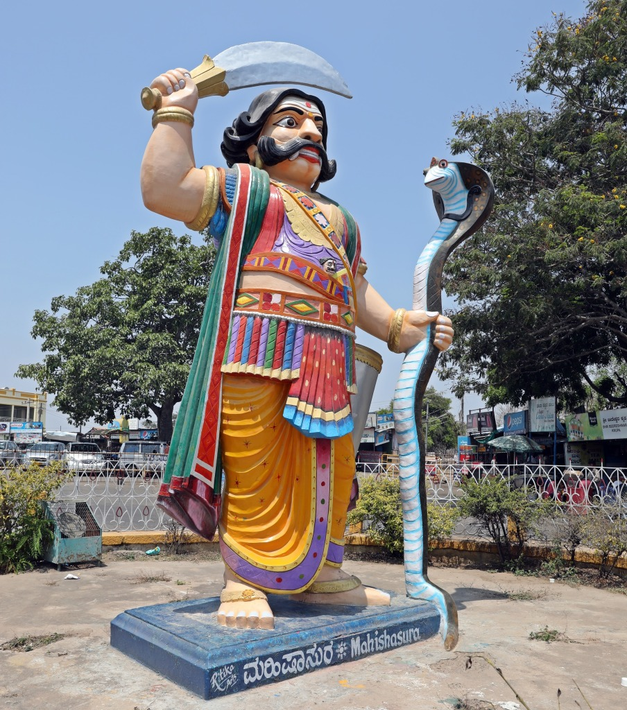 Mahishasura on Chamundi Hill, Mysore
