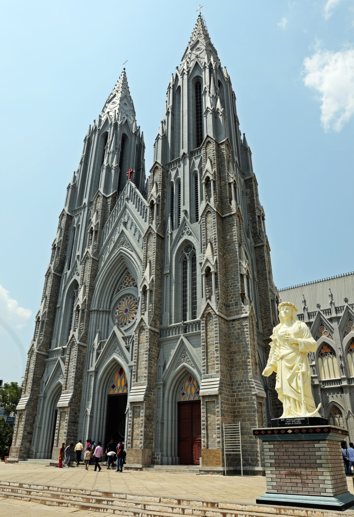 St. Philomena stature outside Cathedral, Mysore
