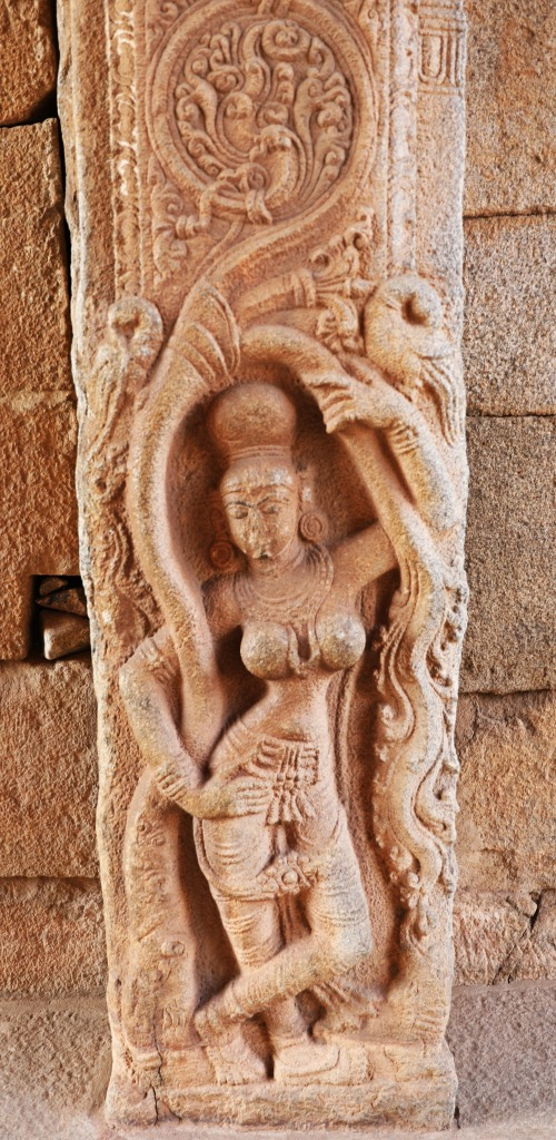 Carving of Dancing Woman, Hampi