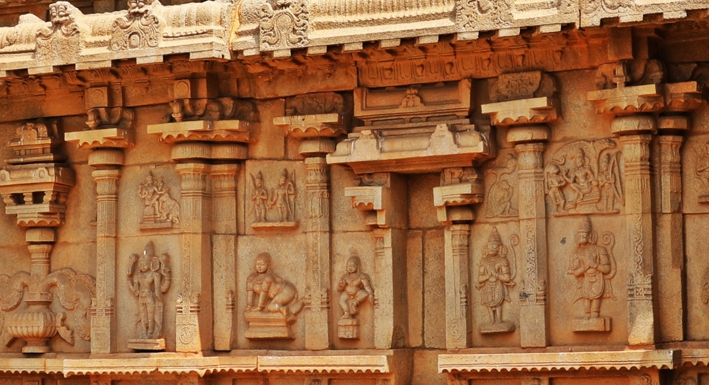 Ramayana depected on Hazarama Temple, Hampi