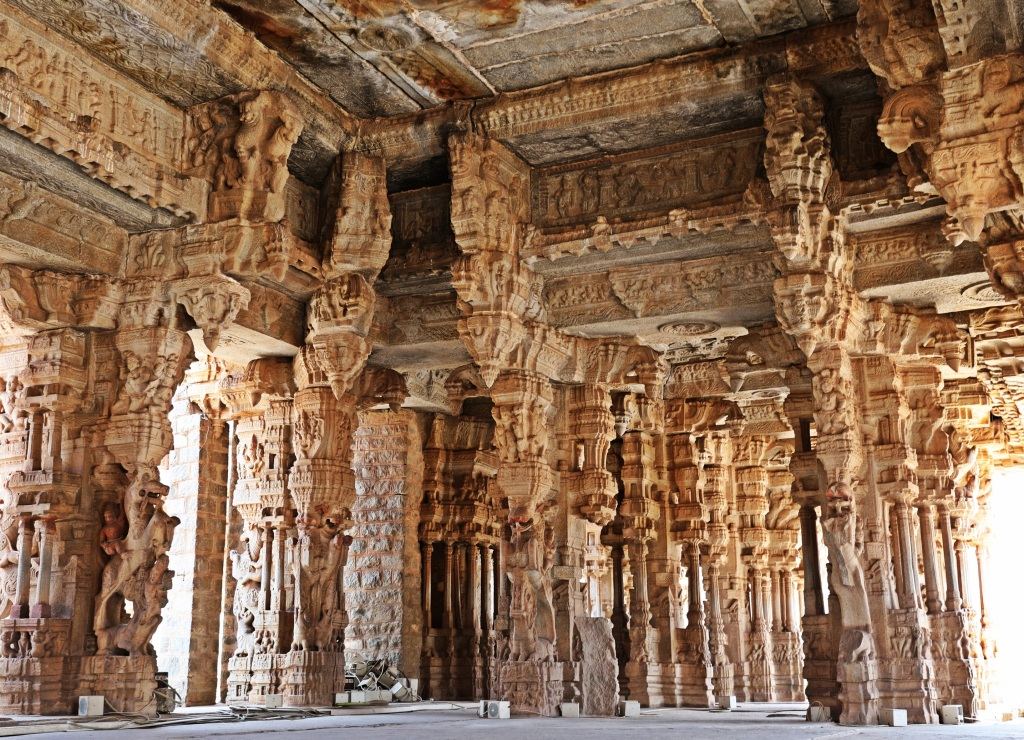 Extravagant pillars of Vittala Temple, Hampi
