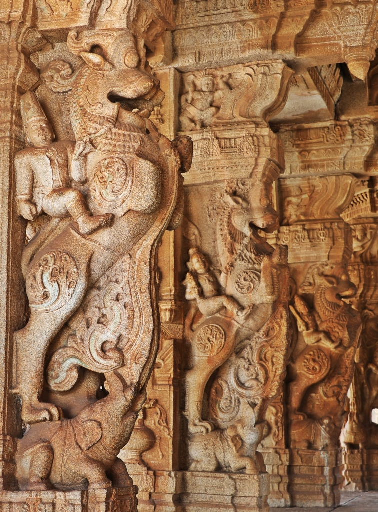 Carvings. Pavilion at Vittala Temple,Hampi