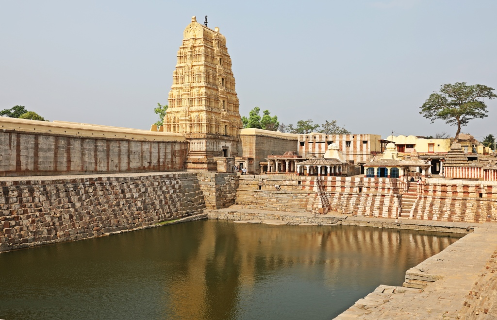Water tank behind Virupaksha Temple, Hampi