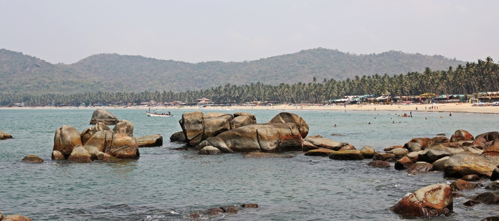 Rocky coast near Palolem Beach, Goa