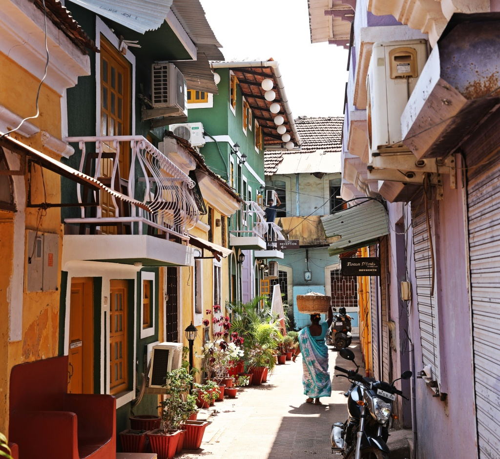 Portuguese buildings, Panaji, Goa