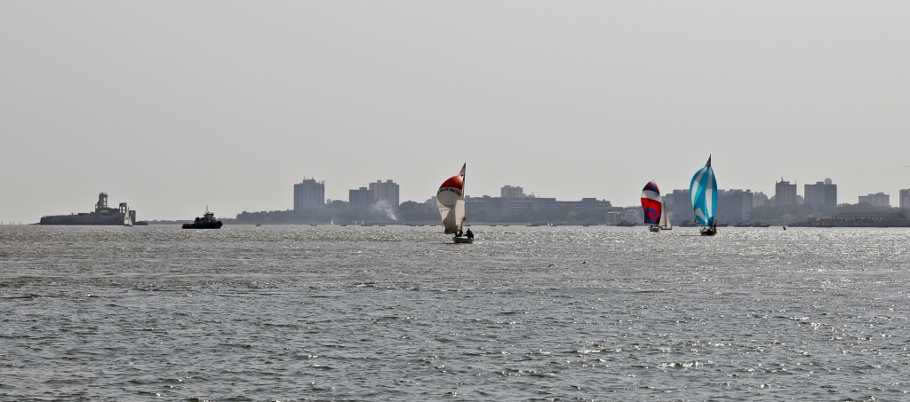 Sailboat race, Mumbai Harbour