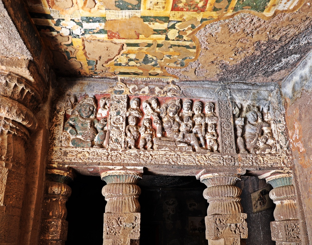 Carvings and frescoes, Ajanta