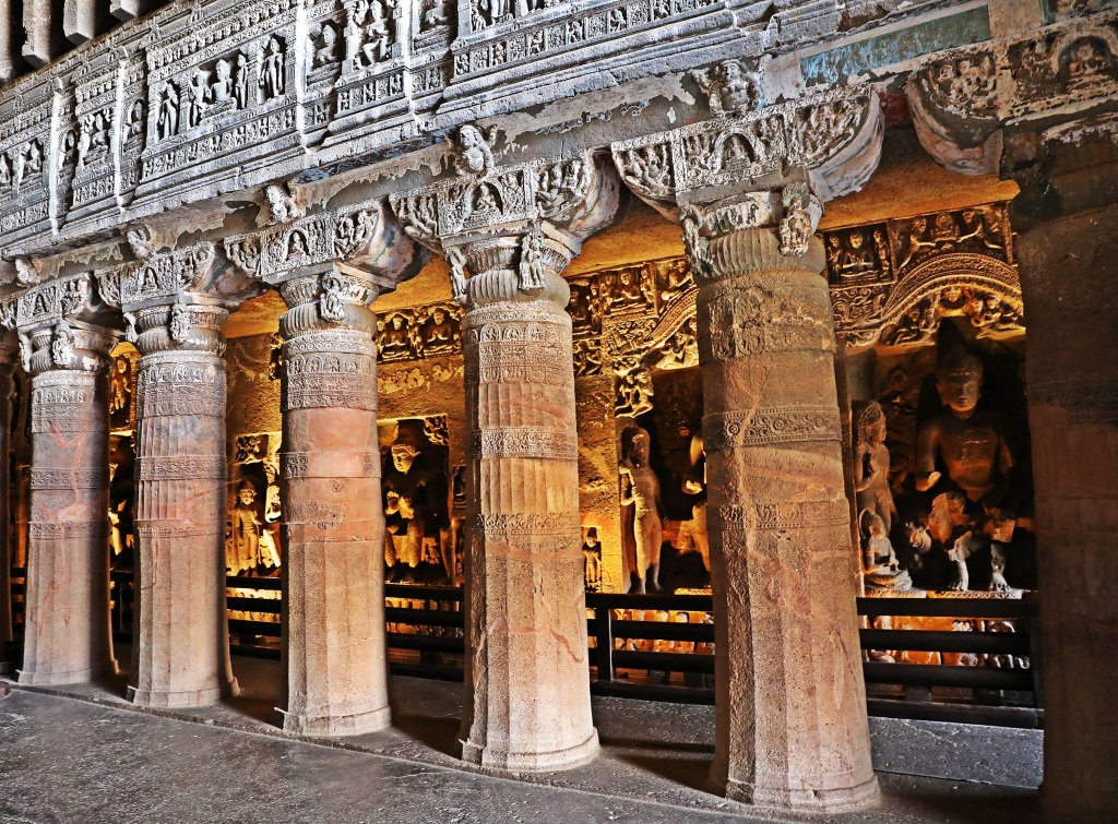 Buddhist rock-cut temple, Ajanta