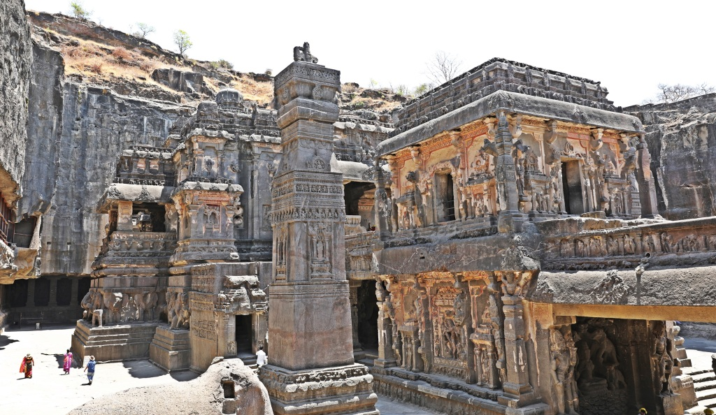 The massive size of Kailasa Temple, Ellora