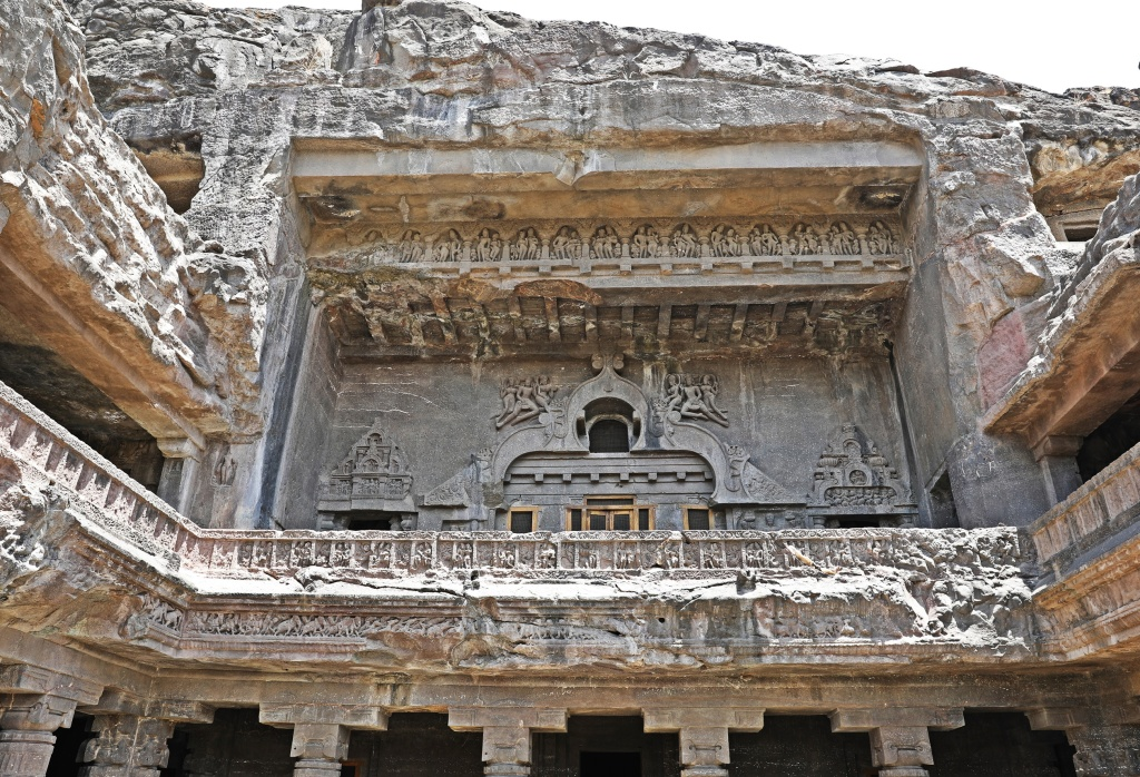 Detailed balcony, Ellora