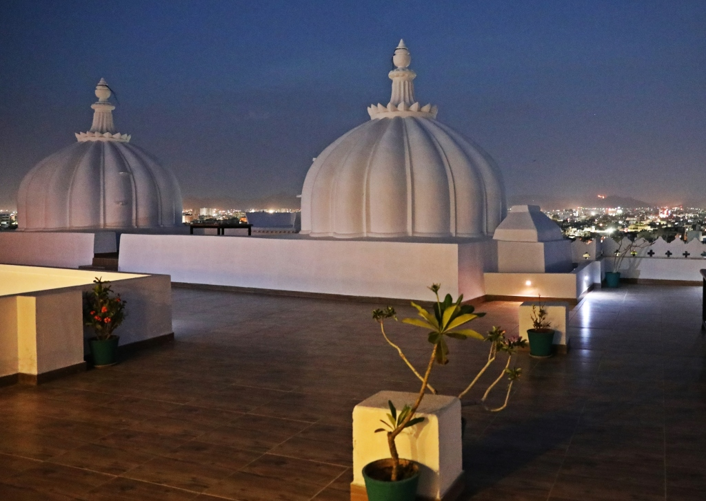 Rooftop at night, Udaipur