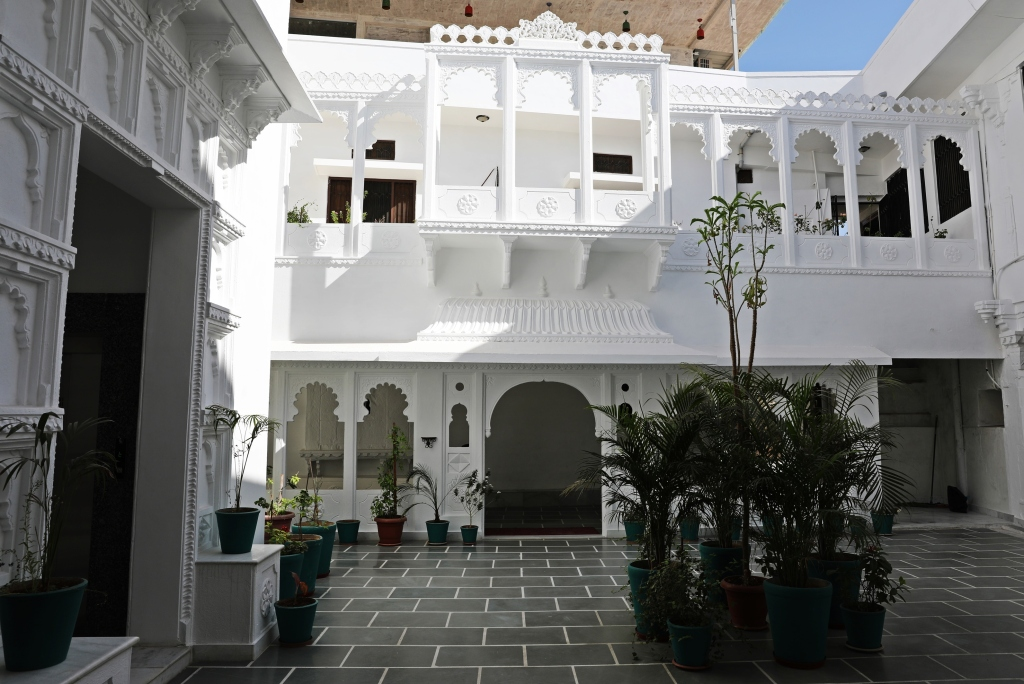Courtyard in our hotel, Udaipur