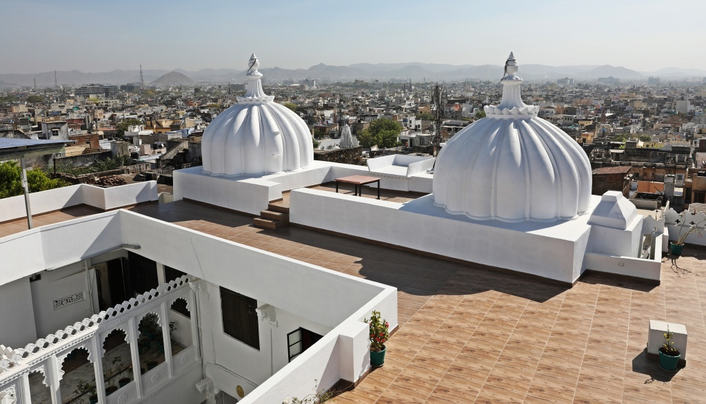 Dome on the roof of our hotel, Kotra Haveli, Udaipur