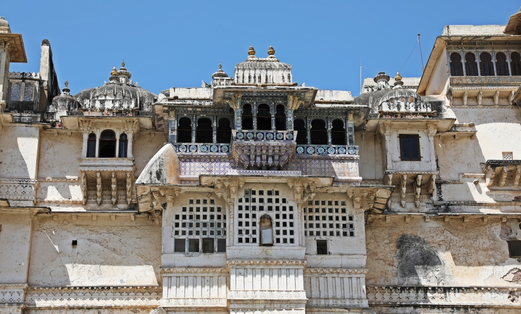 Elaborate balconies, City Palace, Udaipur