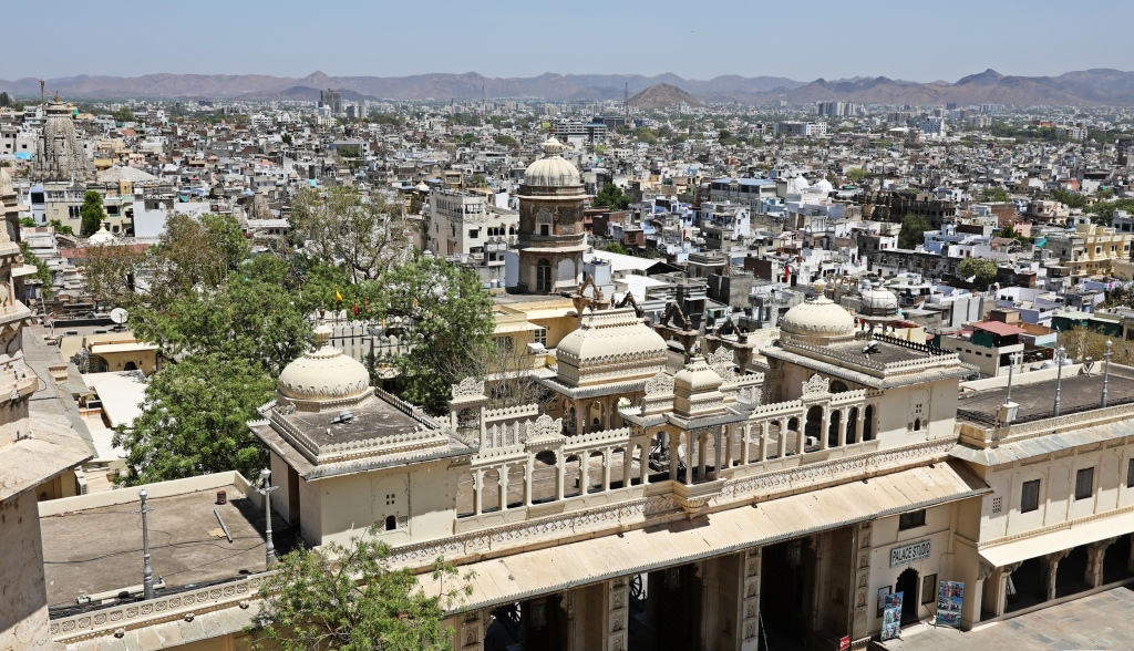 view of Udaipur from the Palace
