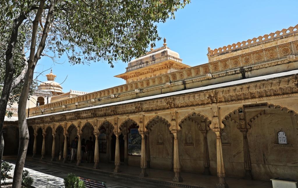 Garden courtyard, Badi Mahal, City Palace, Udaipur
