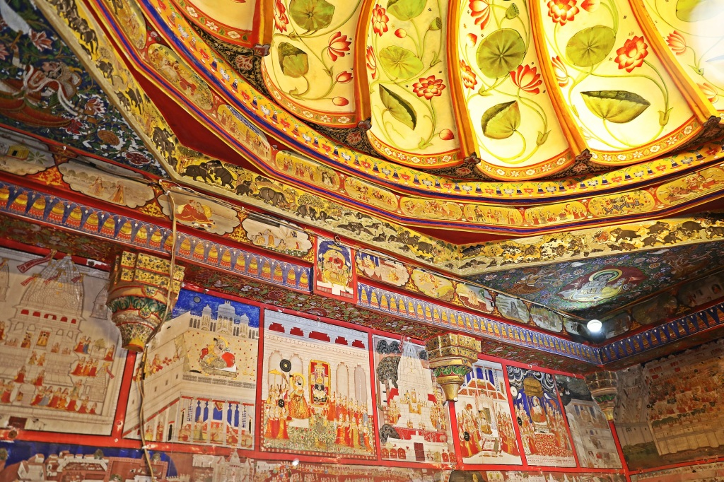 Colourful ceiling, City Palace, Udaipur
