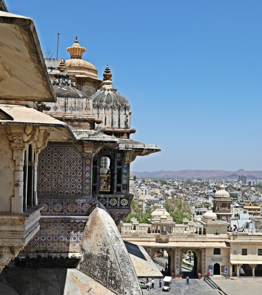 Tiled balcony, City Palace, Udaipur