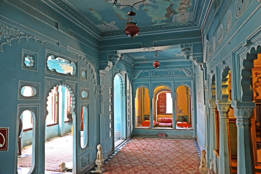 Colourful room in City Palace, Udaipur