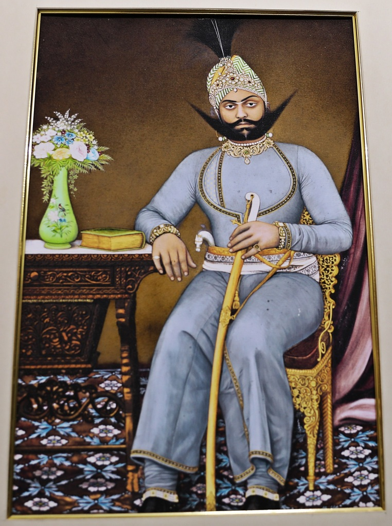 Painting of one of the Maharajas, CIty Palacee