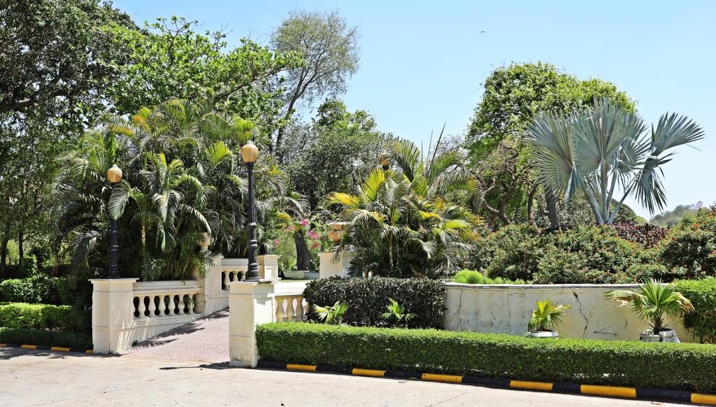Gardens naar City Palace, Udaipur