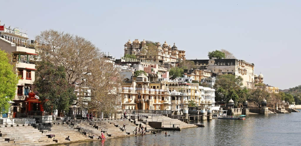 Ghats and City Palace on Lake Pichola