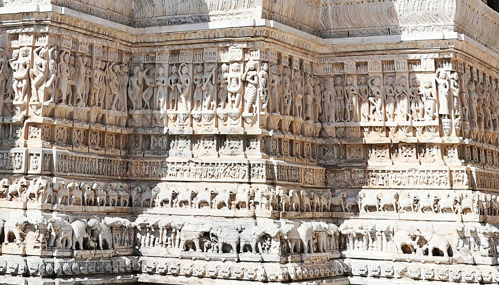 Carvings on Jagdish Temple, Udaipur
