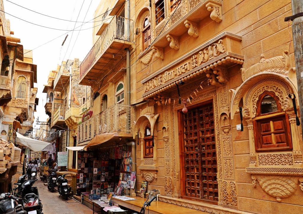 Narrow street in Jaisalmer Fort