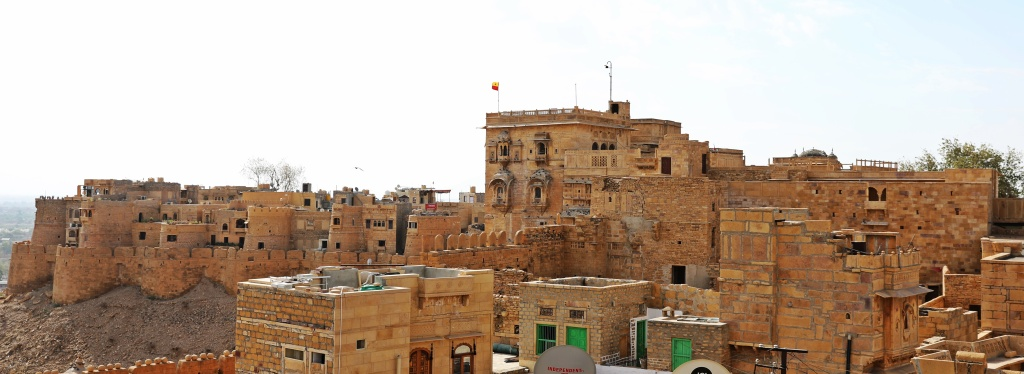 View from our hotel of Jaisalmer Fort