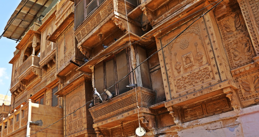 Ornate windows, Jaisalmer