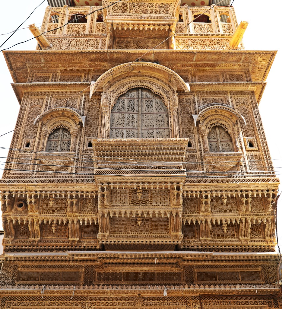 Ornately carved balcony, Jaisalmer