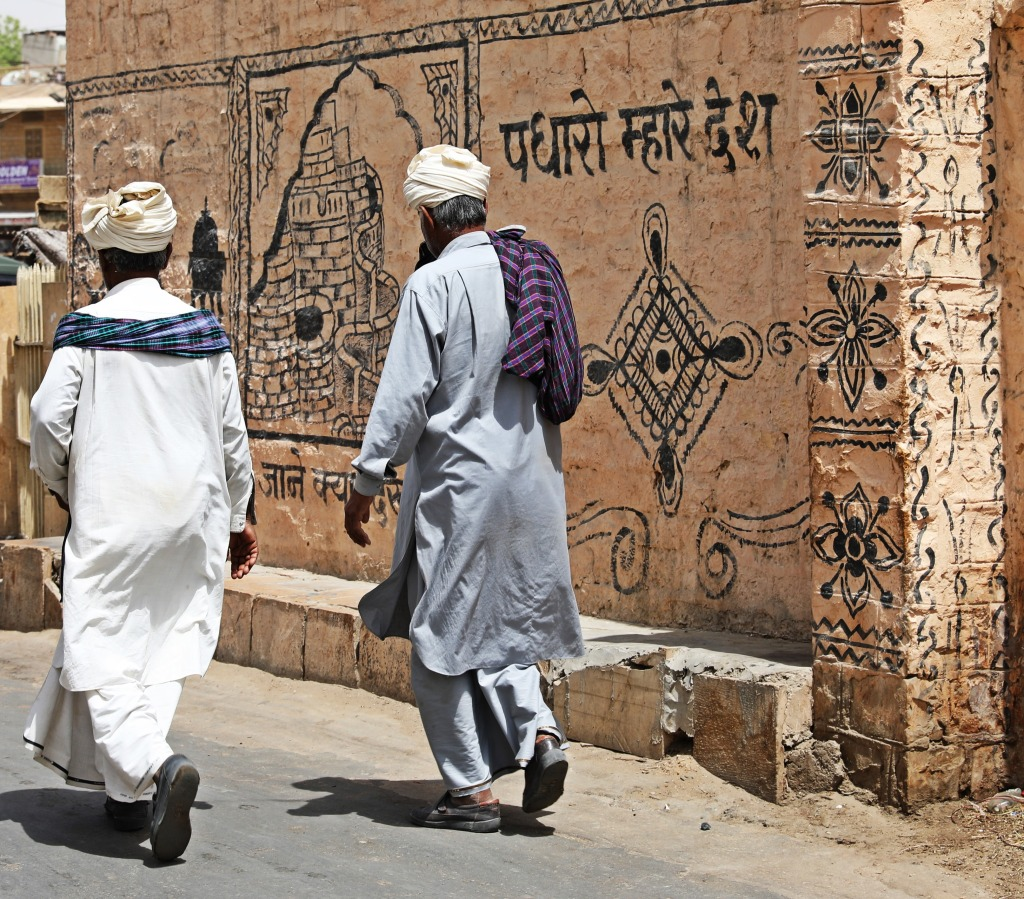 Rajashtani men in traditional turbans, Jaisalmer
