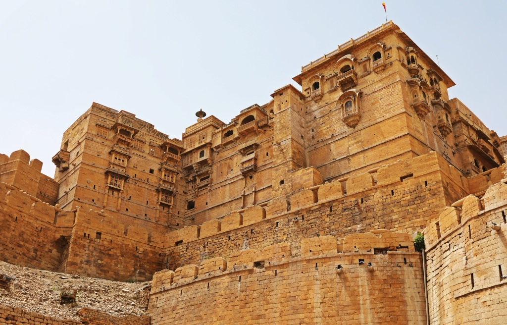 Raj Palace and fort wall, Jaisalmer Fort