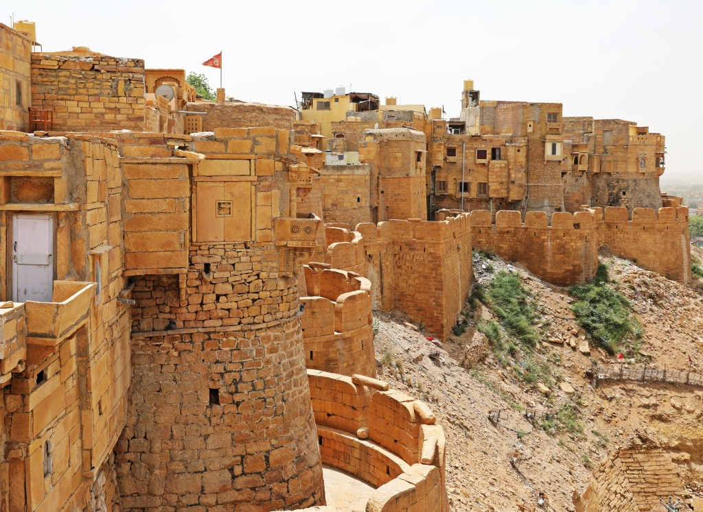 View of Jaisalmer Fort Wall Old Town buildings