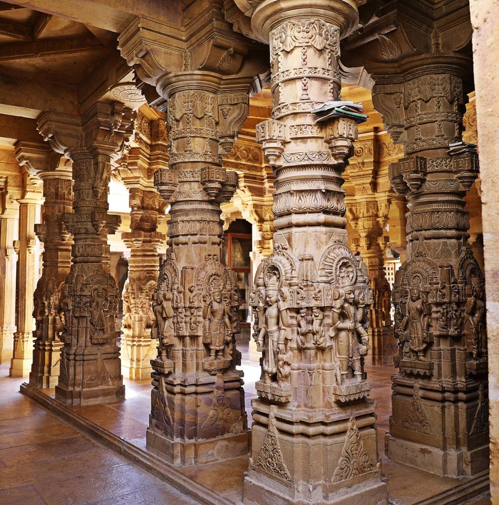 Carved columns, Jain Temples, Jaisalmer Fort