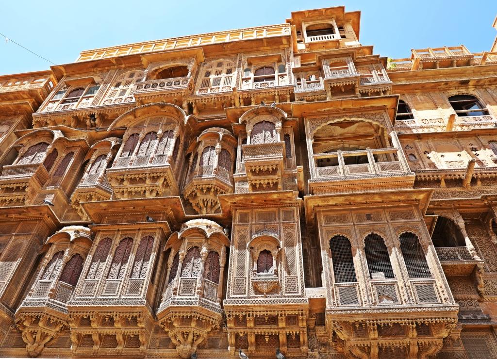 Windows of a Haveli, Jaisalmer