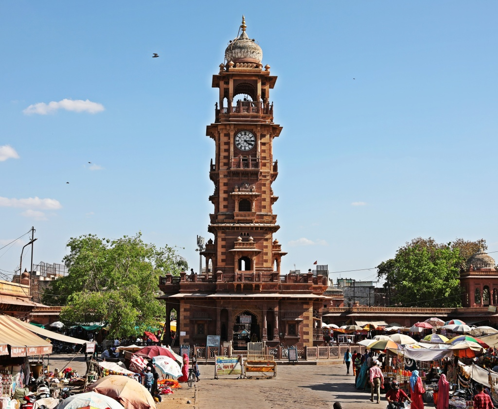 Clock tower and local market, Jodhpur