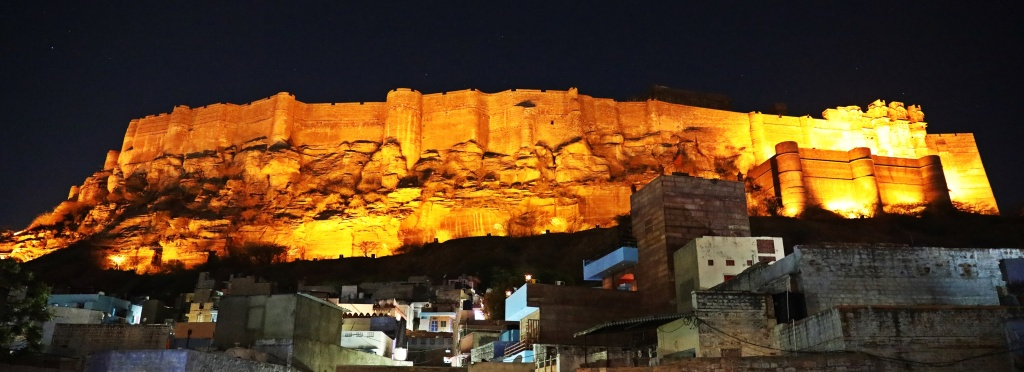 View of Mehrangarh Fort from our hotel, Jodhpur