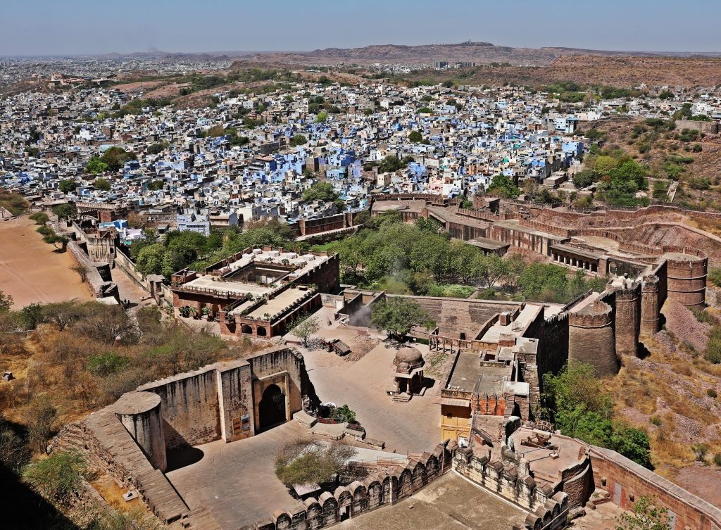 Blue City below the fort wall, Jodhpur