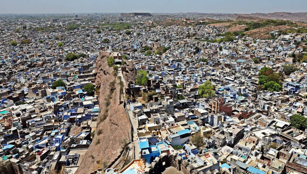 View of Blue City from Mehrangarh Fort, Jodhpur