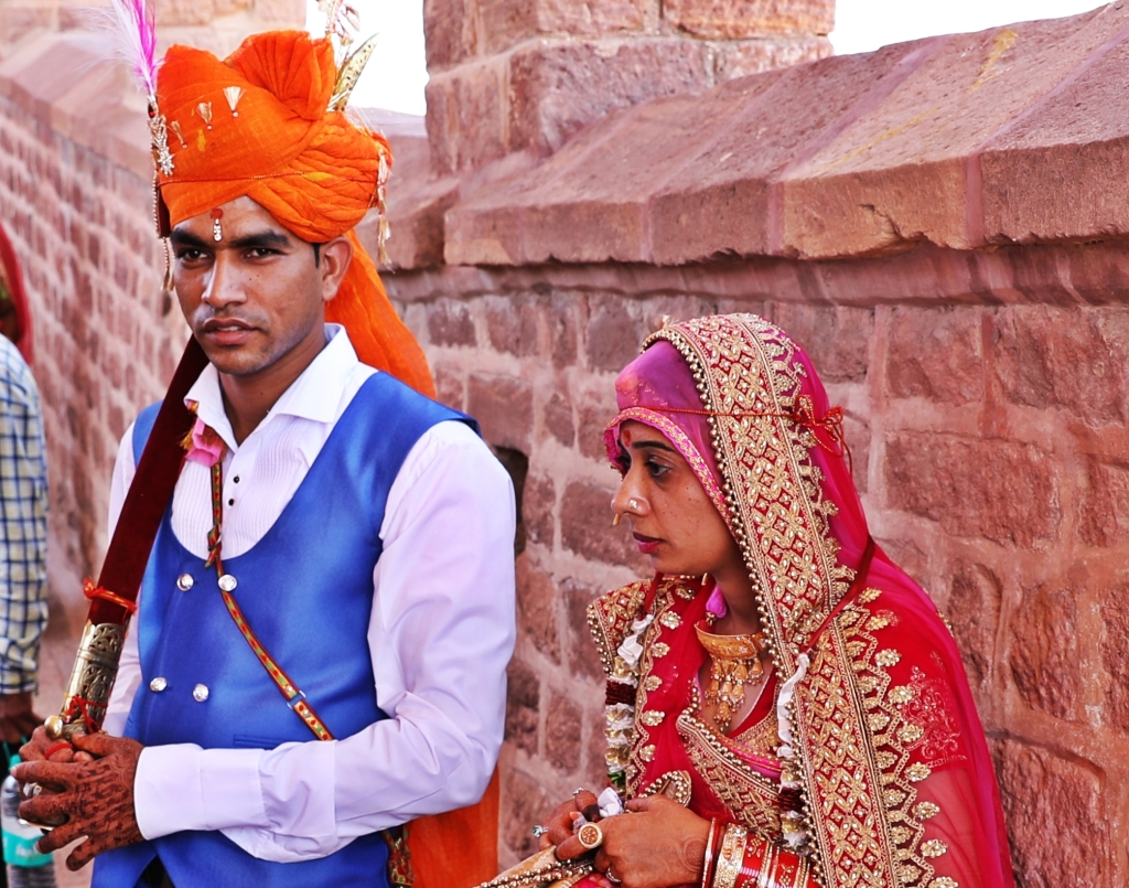 Bride and Groom, Mehrangarh Fort, Jodhpur