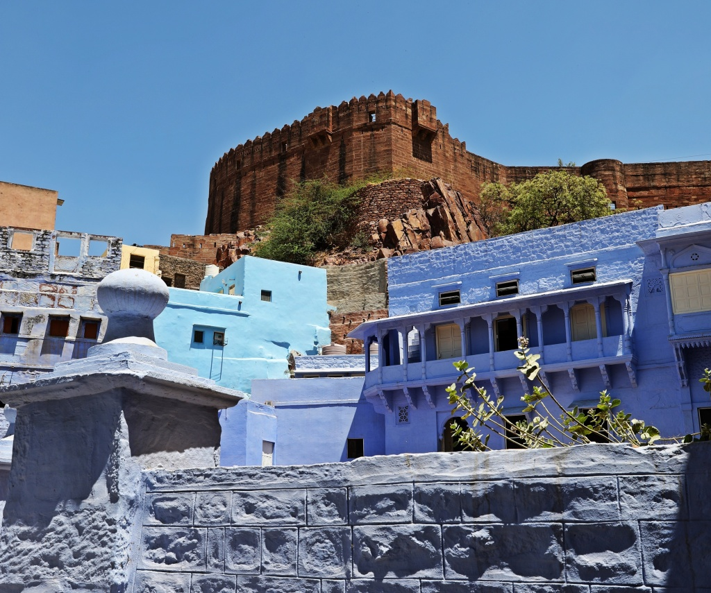 Blue city below Mehrangarh Fort , Jodhpur