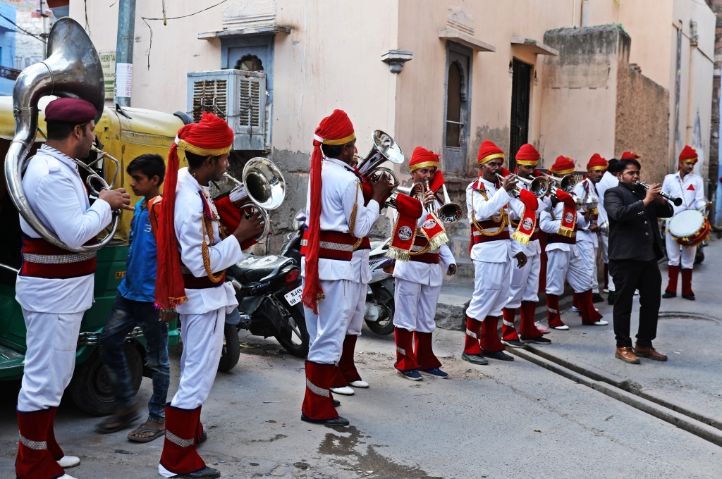 Musicians for a wedding procession, Jodhpur