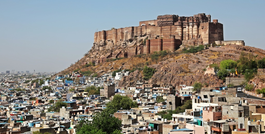 Mehrangarh Fort above Blue City, Jodhpur